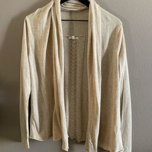 Tan open front cardigan 🌻
